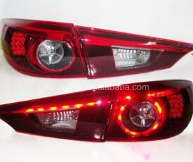 USテールライト[右ハンドル・日本仕様]MAZDA 3 Axela LEDテールランプ2014-2016年用赤色For MAZ For MAZDA 3 Axela LED Tail Lamp 2014-2016 year Red Color