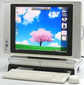 中古デスクトップパソコン 富士通 FMV DESKPOWER LX55X/D 地デジTV17液晶一体型(17インチ Core2Duo DVDスーパーマルチドライブ WindowsVista Home Premium 無線LAN) 【中古パソコン/中古PC】