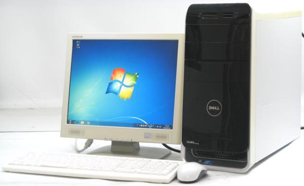 DELL Studio XPS 8000-2670MT■15液晶セット (デル Windows7 Corei5 DVDスーパーマルチドライブ グラボ ビデオカード GeForce) 【中古】 【中古パソコン/中古PC】