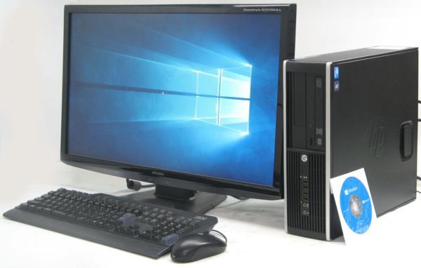 HP Compaq 6300Pro SFF-2600■27液晶セット (ヒューレット・パッカード Windows10 Home 64bit(MRR)付 DVDスーパーマルチドライブ) 【中古】 【中古パソコン/中古PC】