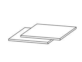 ☆パナソニック(Panasonic)☆ ホームシアター ラックシアター用 棚板部品コード:RKQ2G0002-K 純正部品 消耗品