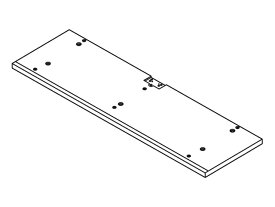 Panasonic(パナソニック)ホームシアター ラックシアター用 底板(ミディアムウッド)部品コード:RYQ0814-M