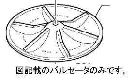 パナソニック ナショナル National ■Panasonic■ 洗濯乾燥機用パルセータ AXW5EB7BX0(AXW5E-6GT0)ナショナル NA-FS801 NA-FS701 NA-F8SE3 NA-FSE3用