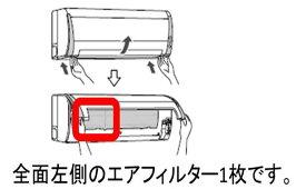【定形外郵便対応可能】TOSHIBA(東芝) エアコン用エアフィルター 前面左用【小さい方】43080513 対応機種:RAS-225JR 1枚入り 左用