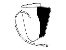 【小型宅配便(定形外郵便)対応可能】Panasonic(パナソニック)エアーマッサージャー レッグリフレ用 右足用アタッチメント(シルバー)部品コード:EWNA33S4707