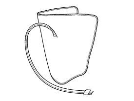 Panasonic(パナソニック)エアーマッサージャー レッグリフレ用 左足用アタッチメント(シルバー)部品コード:EWNA33S4717