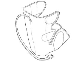 Panasonic(パナソニック)エアーマッサージャー レッグリフレ用 右足用アタッチメント(ローズピンク)部品コード:EWNA84RP4707