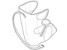 Panasonic(パナソニック)エアーマッサージャー レッグリフレ用 右足用アタッチメント(シルバー)部品コード:EWNA84S4707