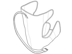 Panasonic(パナソニック)エアーマッサージャー レッグリフレ用 左足用アタッチメント(シルバー)部品コード:EWNA84S4717
