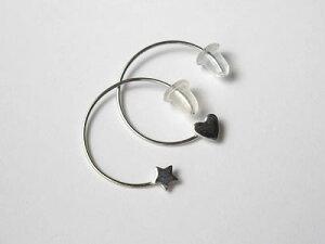 かわいいハートと星のピアス金具