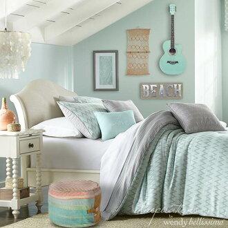 單人床(墊子分售)歐美進口Outlet布張力Avalon 3832 Inspirations床單身公主系統白家具白古董風格簾子床架子