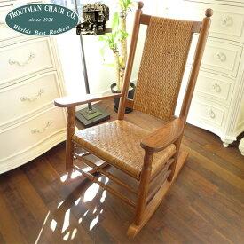 【 訳あり品 - ガタつきあり 】 ロッキングチェア 椅子 木製 オーク 無垢 無垢材 チェア アメリカ製 アンティーク 調 リラックスチェア ロッキング Made in USA 輸入家具 アウトレット ケネディロッカー ヴィレッジオーク P&P Chair Company