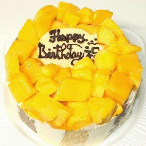 卵不使用 マンゴーアイスケーキ6号 送料込み アレルギー対応ケーキ 卵除去ケーキ アレルギー対応 記念日ケーキ 誕生日 バースデー 卵除去