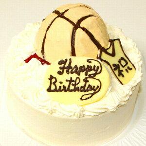 バスケットボールケーキ7号 送料込み フルーツケーキ いちごケーキ マンゴーケーキ 選択 ボールケーキ スポーツ 生デコ パーティー 人気 メッセージ 誕生日 アニバーサリー バースデー