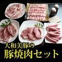 【夏の焼肉&BBQ特集☆35%OFF!】大和美豚の焼肉・BBQセット 1.28kg (豚ロース:120g×2枚・肩ロース:120g×2枚・豚バラ:300g・豚と...