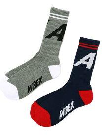 [Rakuten Fashion]AVIREX/アヴィレックス/Aマークソックス/SOCKSA-MARK AVIREX アヴィレックス ファッショングッズ ソックス/靴下 ネイビー ホワイト