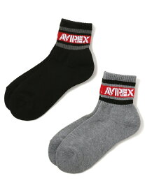 [Rakuten Fashion]WOMEN'S/ラインロゴソックス/LINEXLOGOSOCKS AVIREX アヴィレックス ファッショングッズ ソックス/靴下 ブラック ホワイト ベージュ