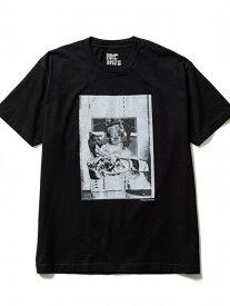 [Rakuten Fashion]MINEDENIM(マインデニム)Kosuke Kawamura × Stie-lo Photo Collage T-Shirts(finger) B'2nd ビーセカンド カットソー Tシャツ ブラック ホワイト【送料無料】