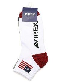 [Rakuten Fashion]AVIREX/アヴィレックス/ショートソックス星条旗/SHORTSOCKS AVIREX アヴィレックス ファッショングッズ ソックス/靴下 ホワイト ブラック