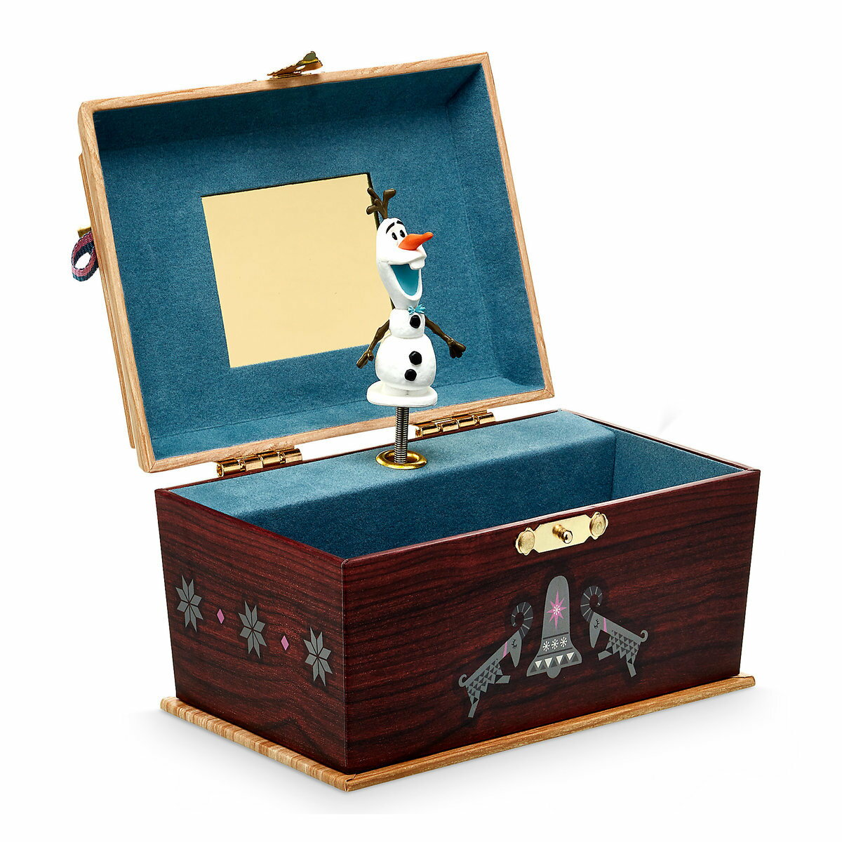 US版 ディズニー アナと雪の女王 オラフ オルゴール ジュエリーボックス