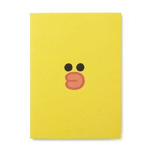 【メール便で送料無料】ラインフレンズ ノート サリー フェイス A5サイズ(韓国 ひよこ 文房具 line)