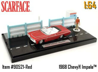 1968 JADA TOYS scar face 1/64 scale Chevy Impala with figure skating