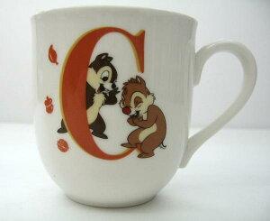 【日本製】安心な日本国内ライセンス商品★イニシャルマグカップ(C・チップ&デール)ディズニー