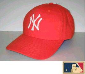 【セール】MLB メジャー3DキャップDX★ニューヨーク・ヤンキース★オレンジ(生地厚タイプ)