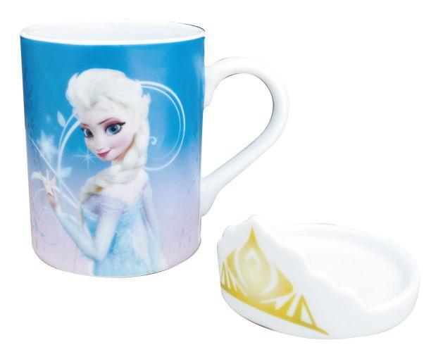 今月だけの月間SALE♪30%OFF♪これはグッドアイディア!!【新発売★即納】『アナと雪の女王グッズ』フタ付 マグカップ エルサ