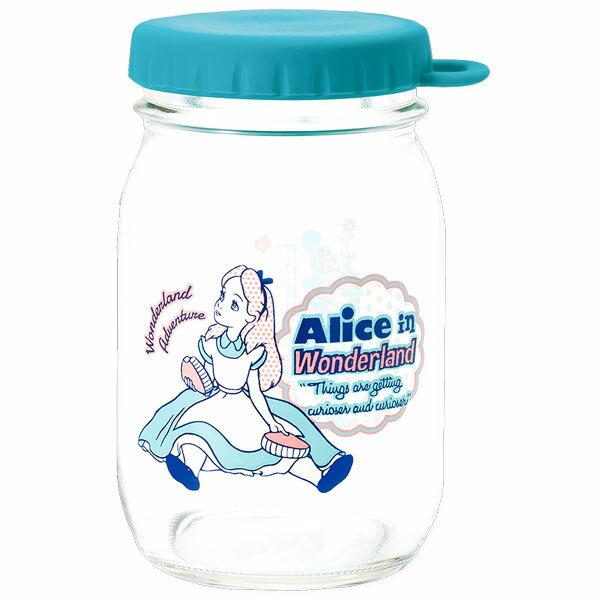 アリス ヴィンテージ・ジャー/メイソンジャー/サラダジャー (グラス/保存容器/保存びん) ブルー (不思議の国のアリス) ディズニー キッチン用品