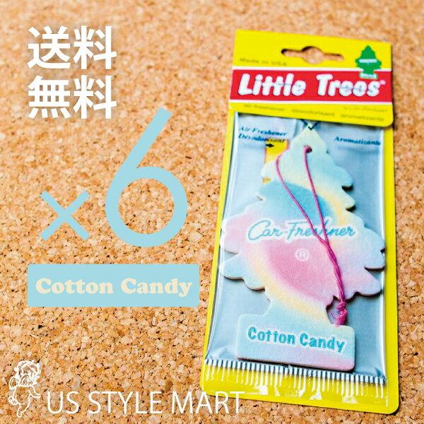 【ホールセール】【まとめ買い】【リトルツリー】【Little Tree】【6枚セット送料無料】【コットンキャンディ】【Cotton Candy】 【芳香剤 車】