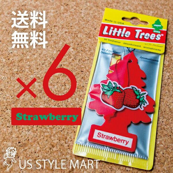 【ホールセール】【まとめ買い】【リトルツリー】【Little Tree】【6枚セット送料無料】【ストロベリー】【Strawberry】 【芳香剤 車】