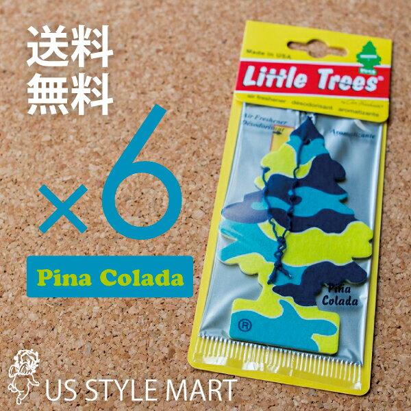【ホールセール】【まとめ買い】【リトルツリー】【Little Tree】【6枚セット送料無料】ピナコラーダ【Pina Colada】 【芳香剤 車】