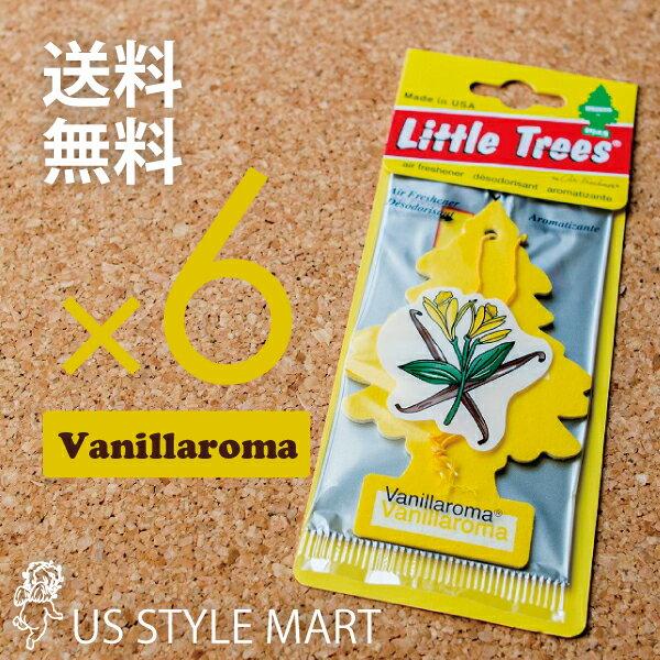 【ホールセール】【まとめ買い】【リトルツリー】【Little Tree】【6枚セット送料無料】バニラロマ 【芳香剤 車】Vanillaroma