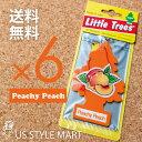 【ホールセール】【まとめ買い】【リトルツリー】【Little Tree】【6枚セット送料無料】【ピーチーピーチ】【Peachy Peach】 【芳香剤 車】