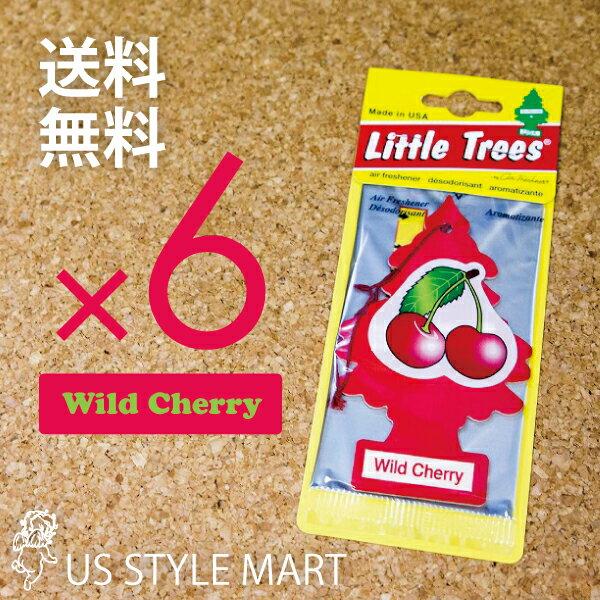 【ホールセール】【まとめ買い】【リトルツリー】【Little Tree】【6枚セット送料無料】【ワイルドチェリー】【Wild Cherry】 【芳香剤 車】