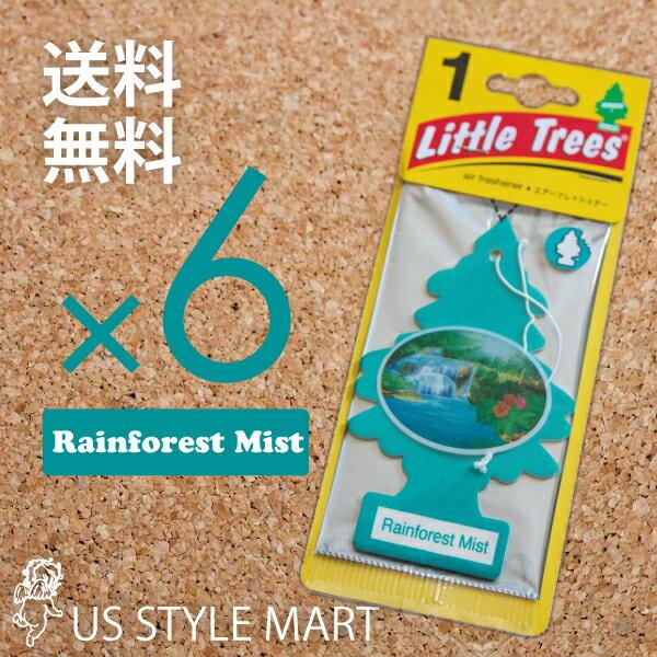 【ホールセール】【まとめ買い】【リトルツリー】【Little Tree】【6枚セット送料無料】【レインフォレストミスト】Raintorest Mist 【芳香剤 車】