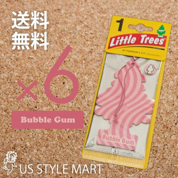 【ホールセール】【まとめ買い】【リトルツリー】【Little Tree】【6枚セット送料無料】【バブルガム】【Bubble Gum】 【芳香剤 車】