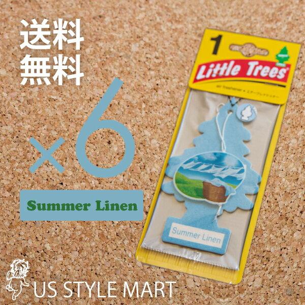 【ホールセール】【まとめ買い】【リトルツリー】【Little Tree】【6枚セット送料無料】【サマー リネン】【Summer Linen】 【芳香剤 車】