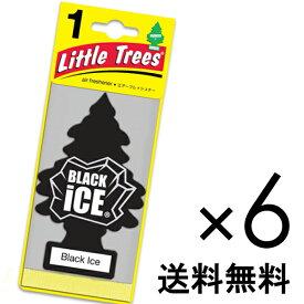 【ホールセール】ブラックアイス【まとめ買い】【リトルツリー】【Little Tree】【6枚セット送料無料】【Black Ice】 【芳香剤 車】