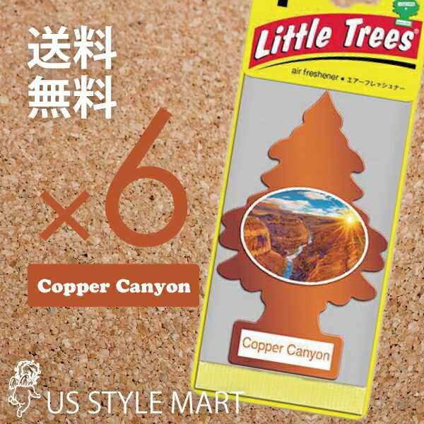 【ホールセール】【まとめ買い】【リトルツリー】【Little Tree】【6枚セット送料無料】【コッパーキャニオン】Copper Canyon 【芳香剤 車】