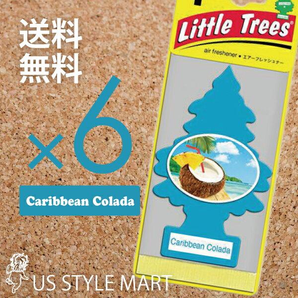 【ホールセール】【まとめ買い】【リトルツリー】【Little Tree】【6枚セット送料無料】【カリビアン コラーダ】Caribbean Colada 【芳香剤 車】