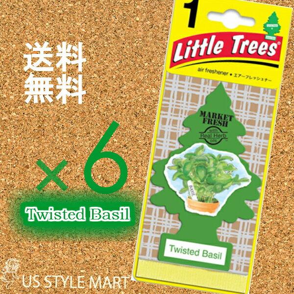 【ホールセール】【まとめ買い】【リトルツリー】【Little Tree】【6枚セット送料無料】【ツイステッド バジル】Twisted Basil【芳香剤 車】2017年発売