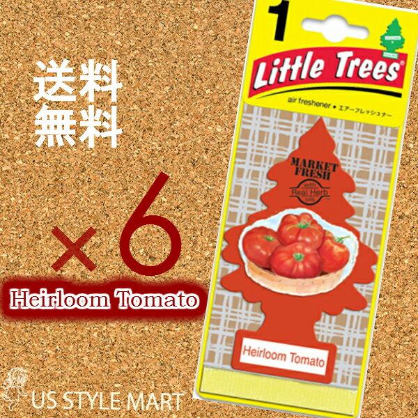 【ホールセール】【まとめ買い】【リトルツリー】【Little Tree】【6枚セット送料無料】【エアルーム トマト】Heirloom Tomato 【芳香剤 車】2017年発売