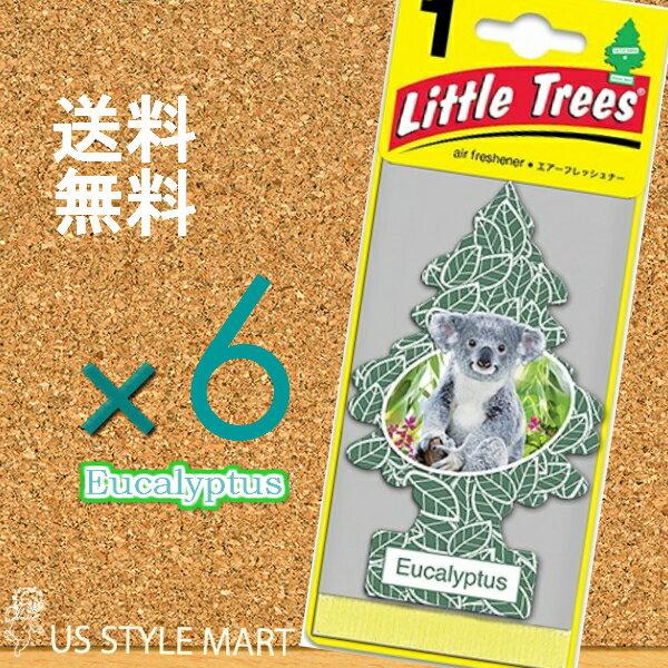 【ホールセール】【まとめ買い】【リトルツリー】【Little Tree】【6枚セット送料無料】【ユーカリ】Eucalyptus 【芳香剤 車】2017年発売