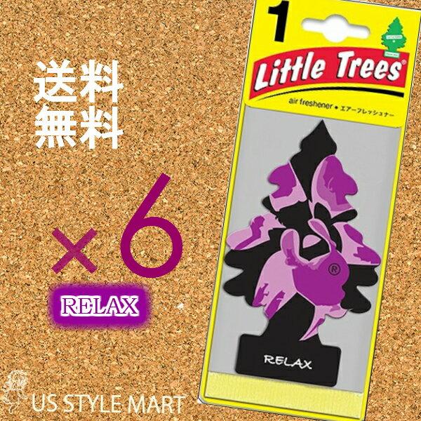 廃番商品【ホールセール】まとめ買い【リトルツリー】Little Tree【6枚セット送料無料】【リラックス】RELAX 【芳香剤 車】