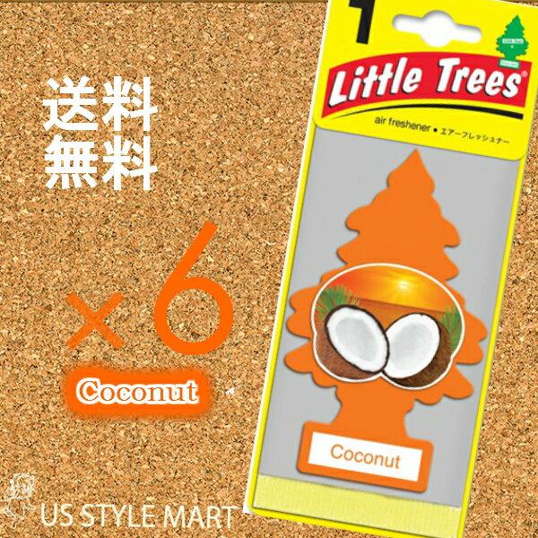 【ホールセール】【まとめ買い】【リトルツリー】【Little Tree】【6枚セット送料無料】【ココナッツ】 【芳香剤 車】