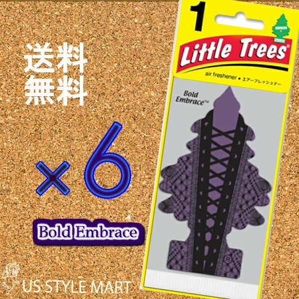 ホールセール【まとめ買い】リトルツリー【Little Tree】6枚セット送料無料【ボールド エンブレイス】Bold Embrace 【芳香剤 車】2017年NEW