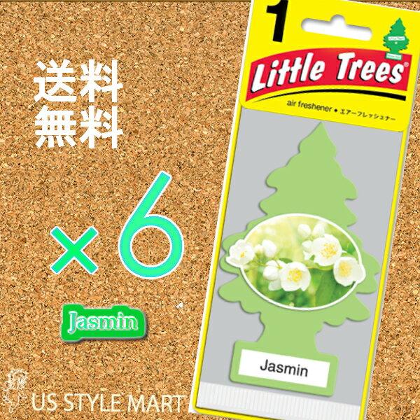 ホールセール【まとめ買い】リトルツリー【Little Tree】6枚セット送料無料【ジャスミン】Jasmin 【芳香剤 車】2017年NEW