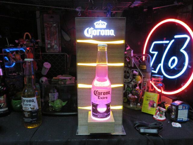 コロナビールグッズ【ボトルディスプレー】CORONA EXTRA 【ピンクボトル付き】 ショップ展示品【送料無料】電飾看板